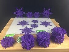 LOT of 93 Glittery PURPLE Snowflake HOLIDAY Ornaments - Snowflakes - Xmas Decor