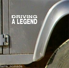 Land Rover Defender 90 110 Sticker, Driving a legend, Decal, Vinyl, Series 1 2 3
