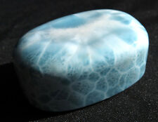 Beautiful 160.7 Gram Larimar. Polished freeform. Dominican Republic