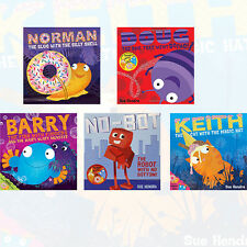 Sue Hendra Collection 5 Books Set Doug the Bug,Barry the Fish,Keith the Cat, New
