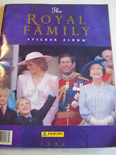 Rare panini 1991 famille royale autocollant album livre diana prince william harry complet