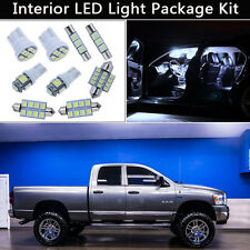 7PCS Xenon White LED Interior Car Lights Package kit Fit 2003-2008 Dodge RAM J1