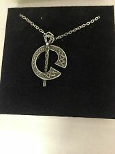 Tara R104 English Pewter on a Silver Platinum Plated Necklace 18""