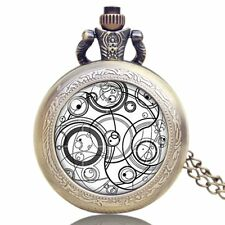 Vintage Inspired Doctor Who Gallifrey Necklace Pocket Watch Chain Mens Xmas Gift