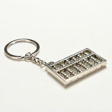 Chinese Abacus Metal Key Chain Ring Keyfob Keyring Toy Ancient Calculator QD