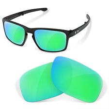Polarized Replacement Lenses for Oakley lifestyle sliver sapphire green color