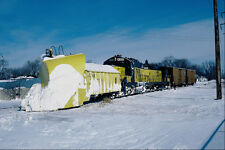 697077 Chicago And North Western GP Unit With Wedge Snowplow A4 Photo Print