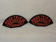 Pair Harley Davidson Motorcycles Road Trip IV Branson 2004 Patches