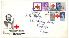E28 1963 QEII RED CROSS FDC (Ord) Relevant Slogan, Booth & Bradbury Guide £70