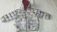 Next 6-9 months COAT GREY QUILTED FLORAL *BNWT* New Hooded Baby Girls Jacket