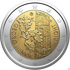 2 EUROS FINLANDIA 2016. MONEDA CONMEMORATIVA - GEORGE HENRIK VON WRIGHT .S/C