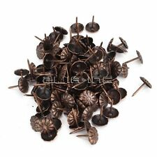 100pcs Antique Vintage Bronze Round Stud Nail Tack Furniture Upholstery
