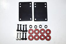 "1"" inch Skateboard Hardware Phillips + Abec7 Bearings + 1/8"" Riser Pad + spacer"