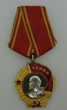 UNIQUE Soviet Russia Order of Lenin 18k Yellow Gold, Enamel & Platinum Badge