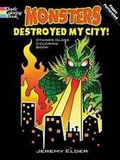 Monsters Destroyed My City! Stained Glass Coloring Book - Great for Halloween!