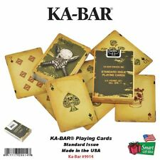 KA-BAR Standard Issue Playing Cards, Skull, Textured, Made in USA #9914