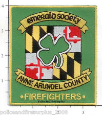 Maryland - Anne Arundel County Emerald Society Firefighters MD Fire Dept Patch