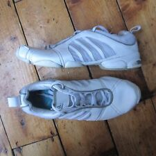 Adidas Women's All White Leather + Fabric Gym Shoes Trainers UK 5.5 EUR 39