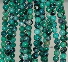 6MM GREEN CHRYSOTINE GEMSTONE GRADE AAA ROUND 6MM LOOSE BEADS 16""