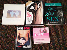 LOT OF 5 BOOKS ON GAY LIFE AND SEX - A TO Z ON GAY SEX - GOING DOWN - VR
