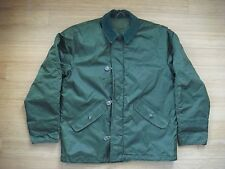 Vtg US NAVY A-1 Extreme Cold Weather Jacket Impermeable Flight Deck GREEN M RARE