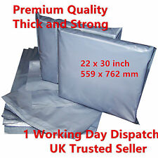 500 x Strong Grey Postal Mailing Bags 22x30 inch 559 x 762 mm Special Offer