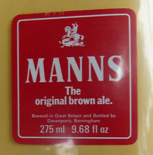 VINTAGE BRITISH BEER LABEL - MANNS BROWN ALE 9.68 FL OZ 275ML #2