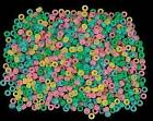 50 Glow in the Dark Pony Beads Kids Craft Multi-Color Great Fun!!