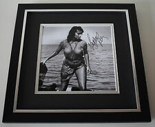 Sophia Loren SIGNED Framed LARGE Square Photo Autograph display Film AFTAL & COA