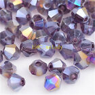 300pcs purple ab exquisite Glass Crystal 4mm #5301 Bicone Beads loose beads!