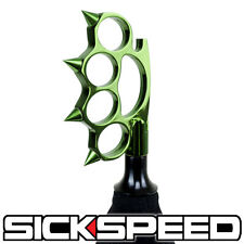 GREEN SPIKED SHIFT KNOB AUTOMATIC SHORT THROW GEAR KNUCKLE BUSTER 8X1.25 K31