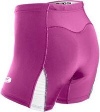 SUGOI RPM Triathlon Short Womens Medium Bike Swim Chamois Pink White