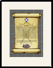 CLAN HAIG - Clan History, Tartan, Crest, Castle & Motto MOUNTED PRESENTATION