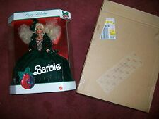 1991 Happy Holidays Barbie Special Edition W/Ticket & Shipper RARE
