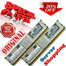 ORIGINALE 4 GB (2x2 GB) PC2 5300F memoria DDR2-667 CEE FB-DIMM Fully Buffered CL5 240-Pin