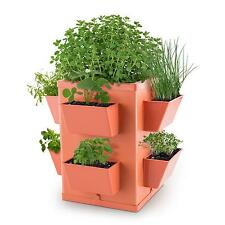 WALDBECK INDOOR OUTDOOR FLOWER PLANTER BOX BASKET 8 PLANTS TRAYS TERRACOTTA HERB