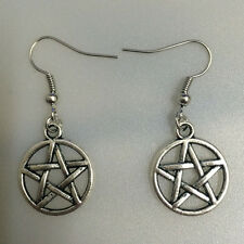 Free shipping Antique Silver Jewelry Five-pointed star earring @