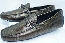 Tod's Men's Shoes Lace Mocassin Loafers Drivers Size 10 Leather Palisander NIB