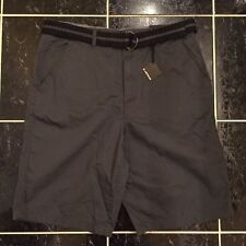 Airwalk Gray Flatfront Belted Shorts Mens Size 36 New w Tags NWT Casual