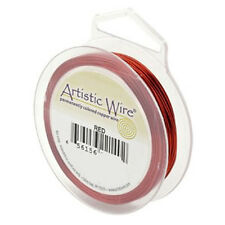 Artistic Wire Red 24 gauge 20 yards 41290 Round Shiny