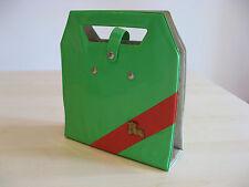 Vecchio Contenitore Valigetta Porta 45 Giri Vintage Anni 60 Per VINILE Verde