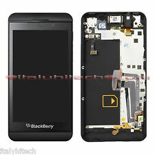 SCHERMO ASSEMBLATO CON TOUCH SCREEN LCD DISPLAY FRAME VIBRO JACK BLACKBERRY Z10