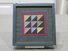 Antique - Vintage Framed Quilt Square Triangle Pattern - Optical Illusion Look