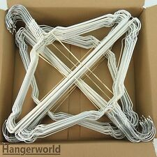 100 Factory Seconds Metal Wire Coat Hanger Single/Mixed Colours 40cm Hangerworld