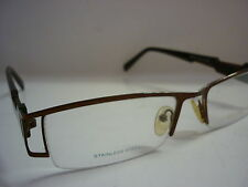 Genuine Designer Glasses Frames Phat Farm 539 Brown Mens Half Rim Frames ref:101