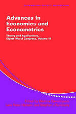 Advances in Economics and Econometrics: Theory and Applications 3 Volume Hardbac