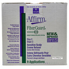Avlon Affirm Fiberguard Fiber Guard Sensitive Scalp Relaxer 9 Application Kit