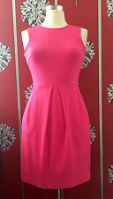 J.CREW SHOCKING PINK DRESS US 0 UK 8/10 WORN ONCE IN SHOOT