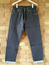 Levis Vintage Clothing LVC Blue Raw 1962 551z Selvage Zip Jeans W30 RRP £225 NEW