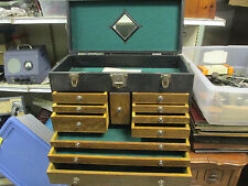 H. Gerstner And Sons Machinist Tool Chest 11 drawer 1944 with Key.